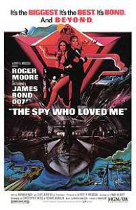 Poster de 007 - O Espião que Me Amava (The Spy who Loved Me) de 1977.