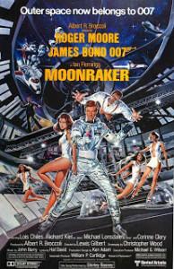 Poster de 007 - Contra o Foguete da Morte (Moonraker) de 1979.