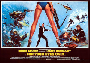 Poster de 007 - Somente para Seus Olhos (For Your Eyes Only) de 1981.
